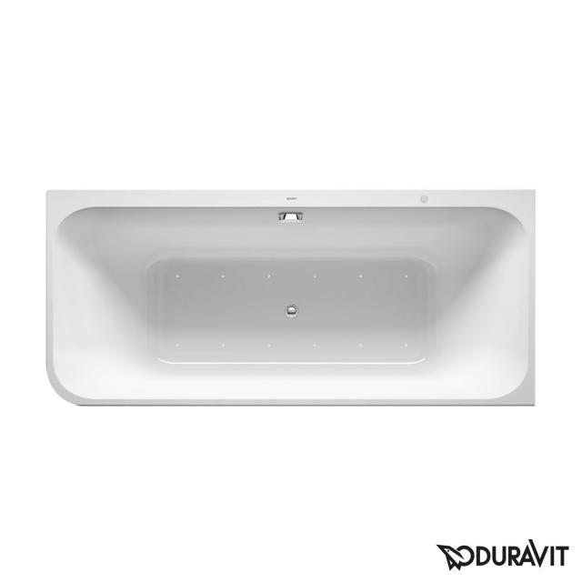 Duravit Happy D.2 Plus Eck-Whirlwanne mit Verkleidung mit Air-System, Ablaufgarnitur chrom