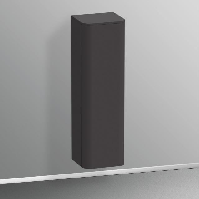 Duravit Happy D.2 Plus Halbhochschrank mit 1 Tür Front graphit supermatt / Korpus graphit supermatt