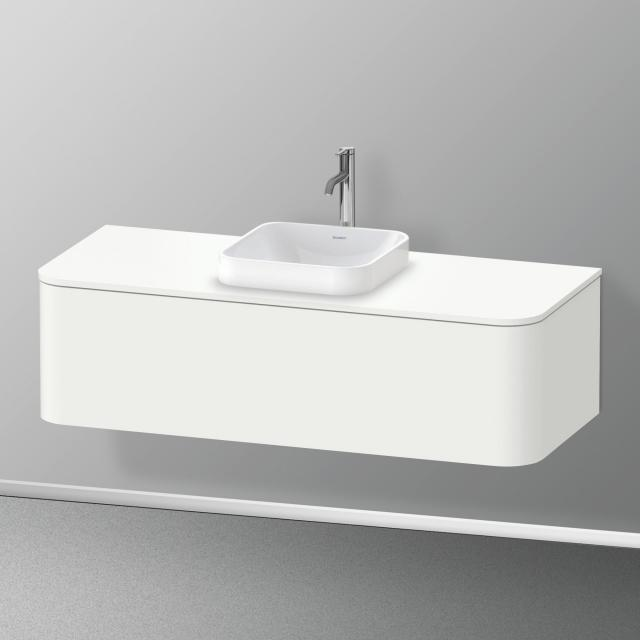 Duravit Happy D.2 Plus LED-Waschtischunterschrank für Konsole mit 1 Auszug Front weiß seidenmatt / Korpus weiß seidenmatt, ohne Einrichtungssystem