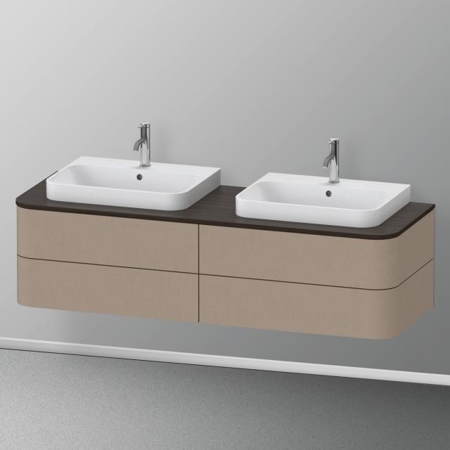 Duravit Happy D.2 Plus LED-Waschtischunterschrank für Konsole mit 4 Auszügen Front leinen / Korpus leinen, ohne Einrichtungssystem
