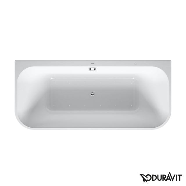 Duravit Happy D.2 Plus Vorwand-Whirlwanne mit Verkleidung mit Air-System, Ablaufgarnitur chrom