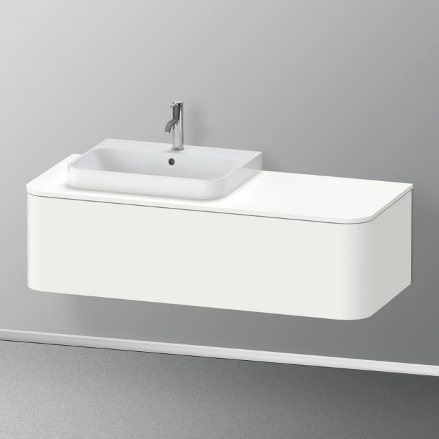 Duravit Happy D.2 Plus Waschtischunterschrank für Konsole mit 1 Auszug Front weiß seidenmatt / Korpus weiß seidenmatt, ohne Einrichtungssystem