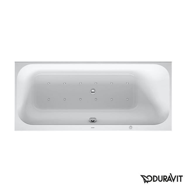 Duravit Happy D.2 Rechteck-Whirlwanne, Einbau mit Air-System, mit Wanneneinlauf