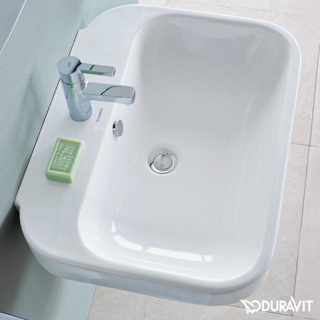 Duravit Happy D.2 Waschtisch weiß, mit WonderGliss, mit 1 Hahnloch