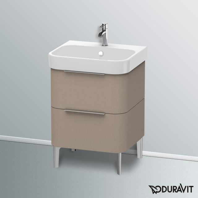 Duravit Happy D.2 Waschtischunterschrank mit 2 Auszügen Front leinen / Korpus leinen, mit Einrichtungssystem Ahorn