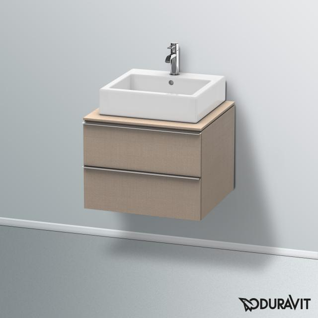Duravit Happy D.2 Waschtischunterschrank für Konsole mit 2 Auszügen Front leinen / Korpus leinen, mit Einrichtungssystem Ahorn