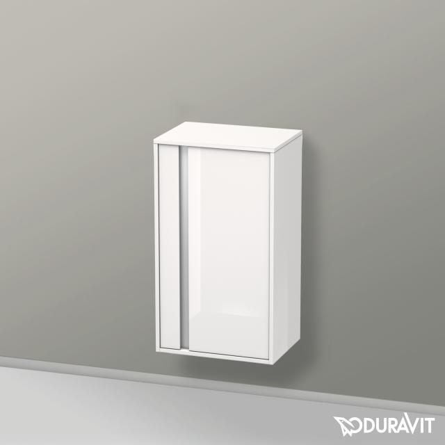 Duravit Ketho Halbhochschrank mit 1 Tür Front weiß hochglanz / Korpus weiß hochglanz