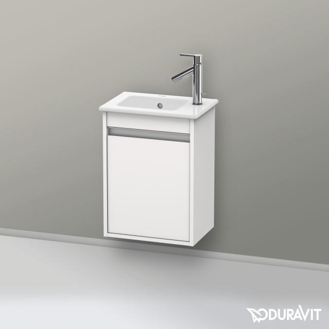 Duravit Ketho Handwaschbeckenunterschrank mit 1 Tür Front weiß hochglanz / Korpus weiß hochglanz