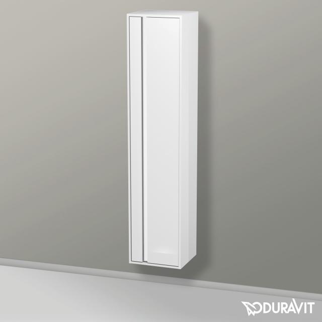 Duravit Ketho Hochschrank mit 1 Tür Front weiß hochglanz / Korpus weiß hochglanz