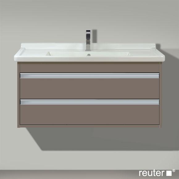 Duravit Ketho Waschtischunterschrank mit 2 Auszügen Front basalt matt / Korpus basalt matt