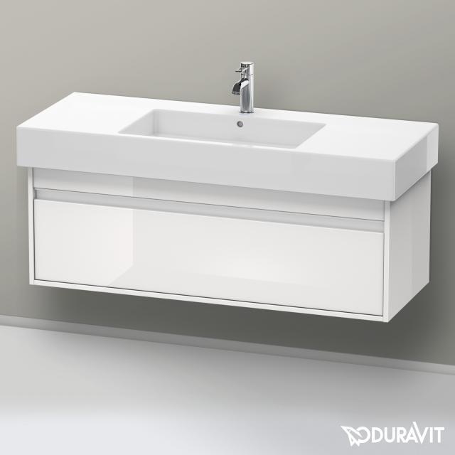 Duravit Ketho Waschtischunterschrank mit 1 Auszug Front weiß hochglanz / Korpus weiß hochglanz