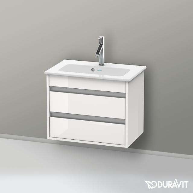Duravit Ketho Waschtischunterschrank Compact mit 2 Auszügen Front weiß hochglanz / Korpus weiß hochglanz