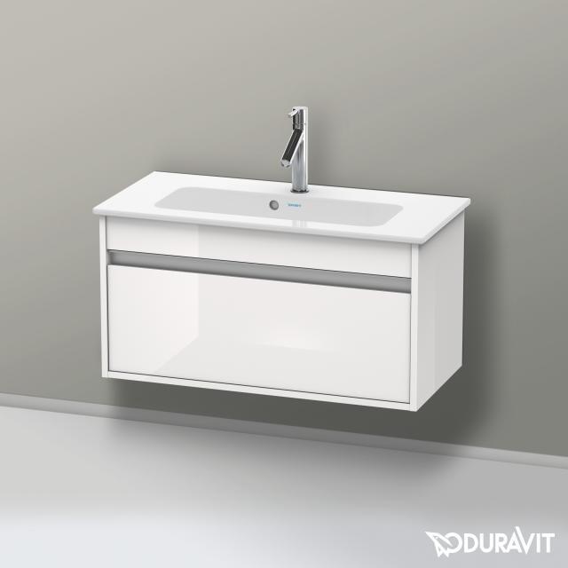 Duravit Ketho Waschtischunterschrank Compact mit 1 Auszug Front weiß hochglanz / Korpus weiß hochglanz