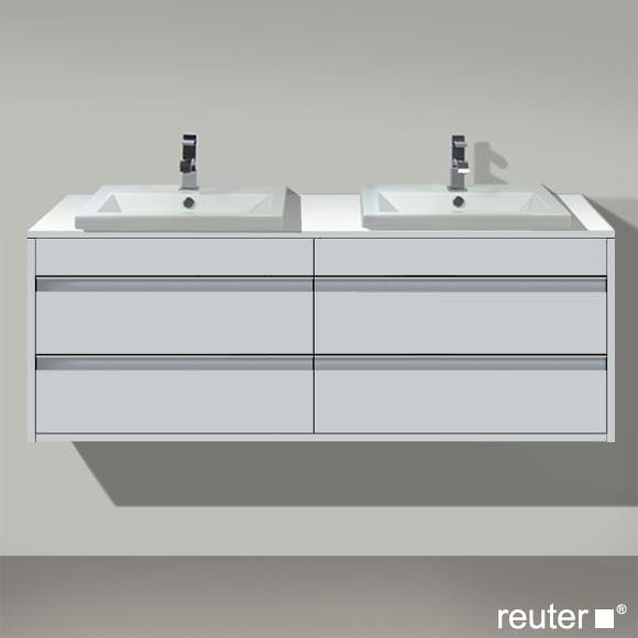 Duravit Ketho Waschtischunterschrank mit 4 Auszügen für 2 Einbauwaschtische Front weiß matt / Korpus weiß matt