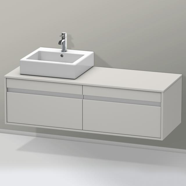 Duravit Ketho Waschtischunterschrank für Aufsatzwaschtisch mit 2 Auszügen Front betongrau matt / Korpus betongrau matt