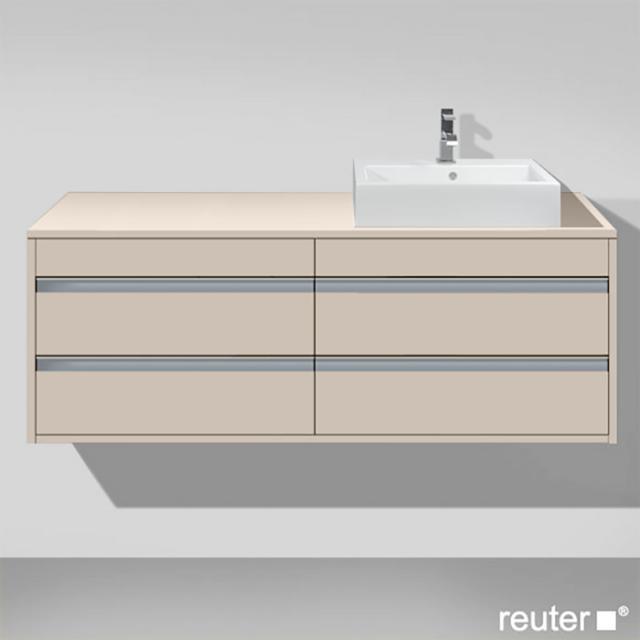 Duravit Ketho Waschtischunterschrank für Aufsatzwaschtisch mit 4 Auszügen Front taupe matt / Korpus taupe matt