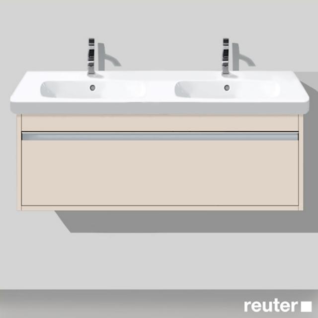 Duravit Ketho Waschtischunterschrank für Doppelwaschtisch mit 1 Auszug Front taupe matt / Korpus taupe matt