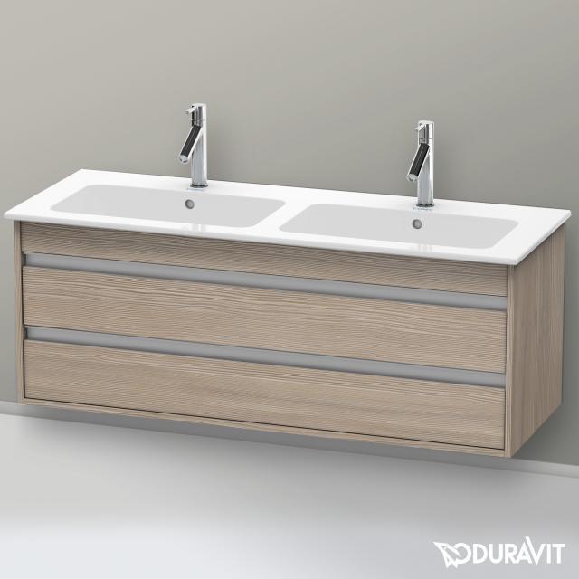 Duravit Ketho Waschtischunterschrank für Doppelwaschtisch mit 2 Auszügen Front pine silver / Korpus pine silver