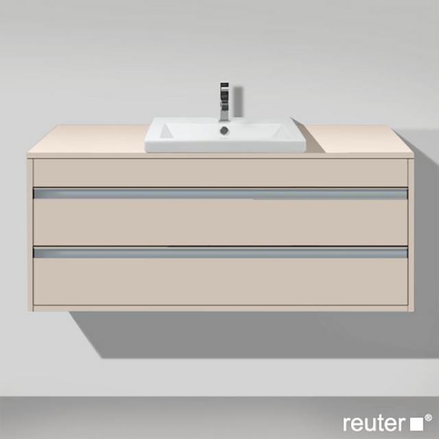 Duravit Ketho Waschtischunterschrank für Einbauwaschtisch mit 2 Auszügen Front taupe matt / Korpus taupe matt