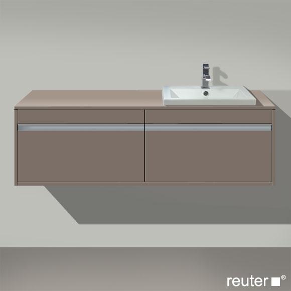 Duravit Ketho Waschtischunterschrank für Einbauwaschtisch mit 2 Auszügen Front basalt matt / Korpus basalt matt