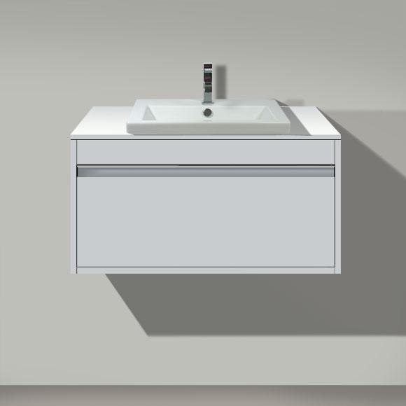 Duravit Ketho Waschtischunterschrank für Einbauwaschtisch mit 1 Auszug Front weiß matt / Korpus weiß matt