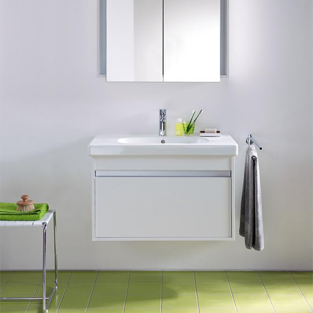 Duravit Ketho Waschtischunterschrank mit D-Code Waschtisch mit 1 Auszug Front weiß hochglanz / Korpus weiß hochglanz