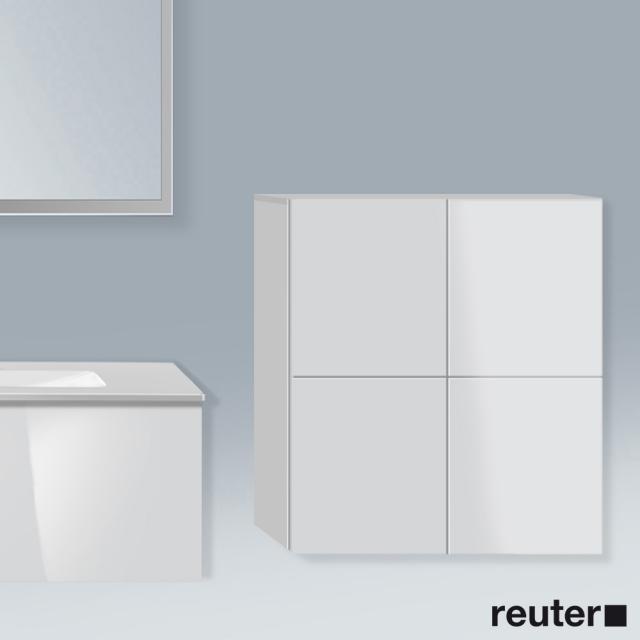 Duravit L-Cube Halbhochschrank mit 2 Türen Front weiß hochglanz / Korpus weiß hochglanz