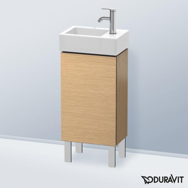 Duravit L-Cube Handwaschbeckenunterschrank mit 1 Tür Front eiche gebürstet / Korpus eiche gebürstet