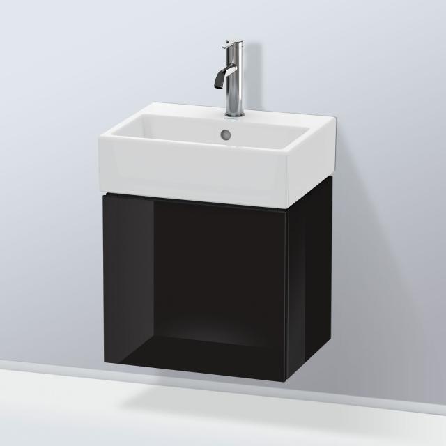 Duravit L-Cube Handwaschbeckenunterschrank mit 1 Tür Front schwarz hochglanz / Korpus schwarz hochglanz