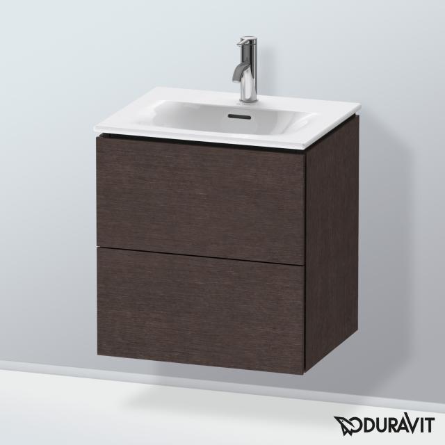 Duravit L-Cube Handwaschbeckenunterschrank  mit 2 Auszügen Front eiche dunkel gebürstet / Korpus eiche dunkel gebürstet