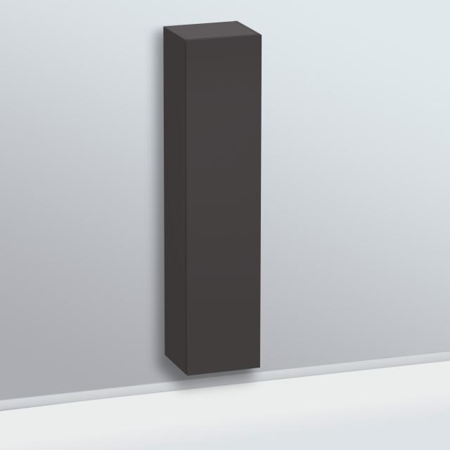 Duravit L-Cube Hochschrank mit 1 Tür Front graphit supermatt / Korpus graphit supermatt
