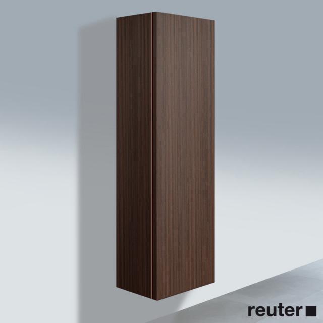 Duravit L-Cube Hochschrank mit 1 Tür Front nussbaum gebürstet / Korpus nussbaum gebürstet