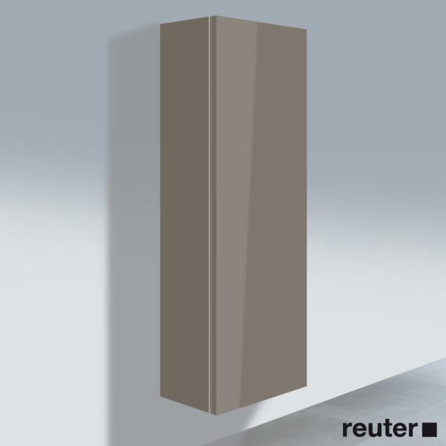 Duravit L-Cube Hochschrank mit 1 Tür Front flannel grey hochglanz / Korpus flannel grey hochglanz