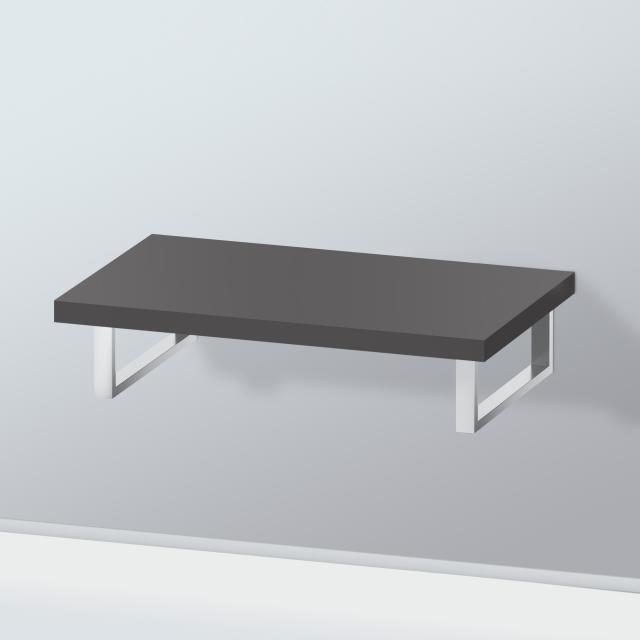 Duravit L-Cube Konsole ohne Ausschnitt für Aufsatz-/Einbauwaschtisch graphit supermatt