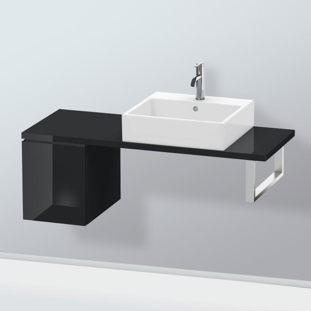 Duravit L-Cube Unterschrank für Konsole mit 1 Auszug Front schwarz hochglanz / Korpus schwarz hochglanz, ohne Einrichtungssystem