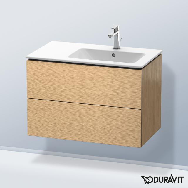 Duravit L-Cube Waschtischunterschrank mit 2 Auszügen Front eiche gebürstet / Korpus eiche gebürstet, ohne Einrichtungssystem