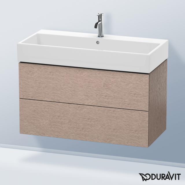 Duravit L-Cube Waschtischunterschrank mit 2 Auszügen Front eiche kaschmir / Korpus eiche kaschmir, ohne Einrichtungssystem