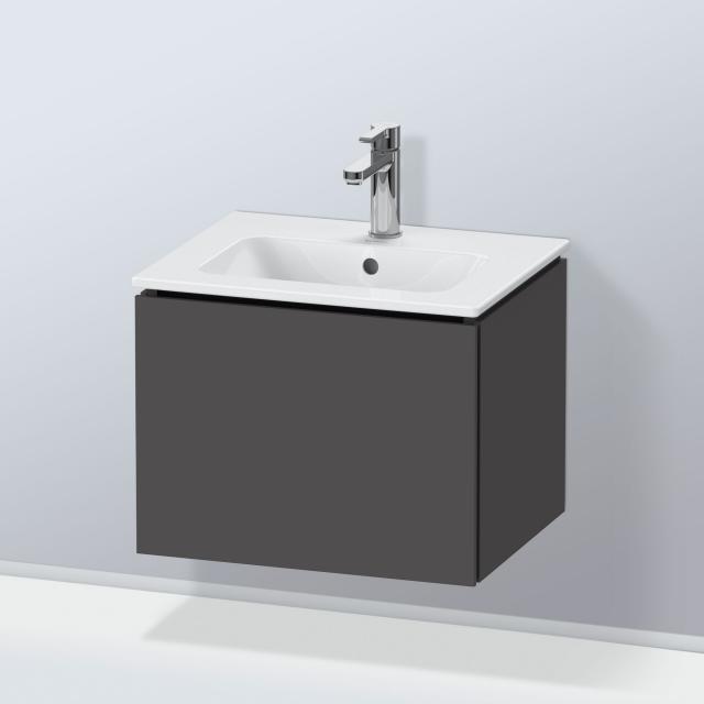 Duravit L-Cube Waschtischunterschrank Compact mit 1 Auszug Front graphit matt / Korpus graphit matt, ohne Einrichtungssystem