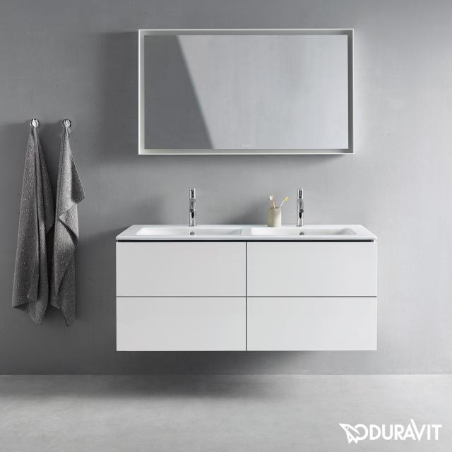 Duravit L-Cube Waschtischunterschrank für Doppelwaschtisch mit 4 Auszügen Front weiß matt / Korpus weiß matt, ohne Einrichtungssystem