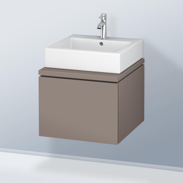 Duravit L-Cube Waschtischunterschrank für Konsole mit 1 Auszug Front basalt matt / Korpus basalt matt, ohne Einrichtungssystem