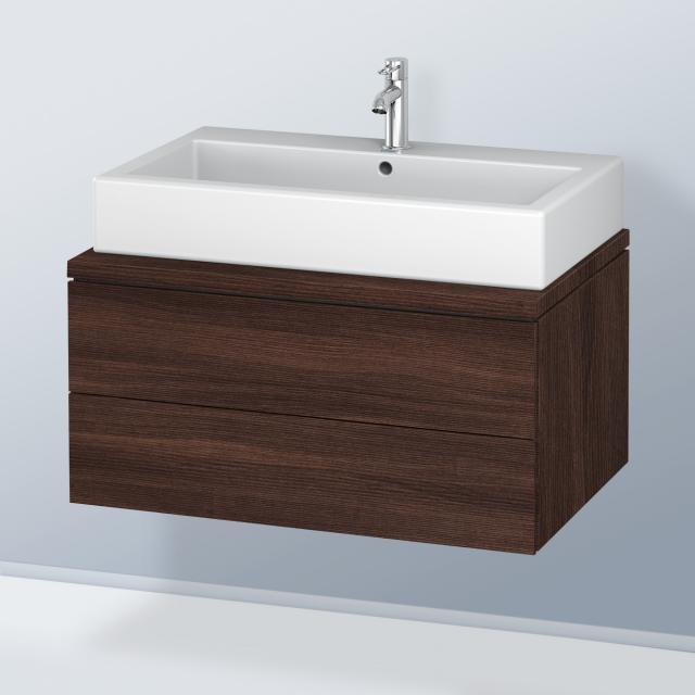 Duravit L-Cube Waschtischunterschrank für Konsole mit 2 Auszügen Front kastanie dunkel / Korpus kastanie dunkel, ohne Einrichtungssystem