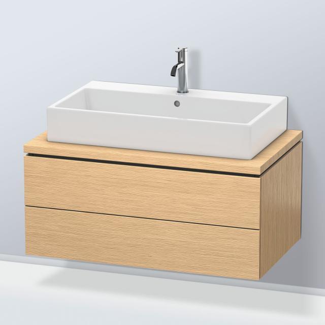 Duravit L-Cube Waschtischunterschrank für Konsole mit 2 Auszügen Front eiche gebürstet / Korpus eiche gebürstet, mit Einrichtungssystem Ahorn