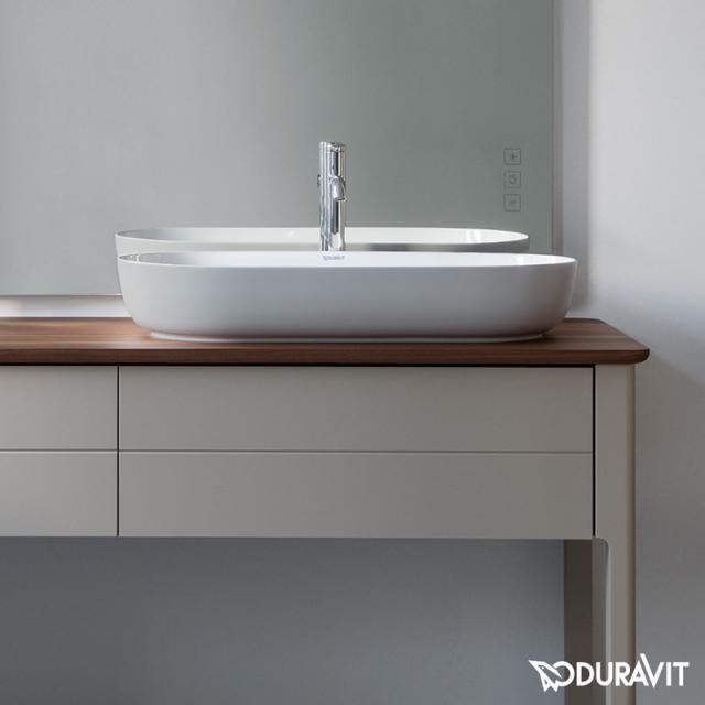 Duravit Luv Aufsatzwaschtisch grau matt/weiß