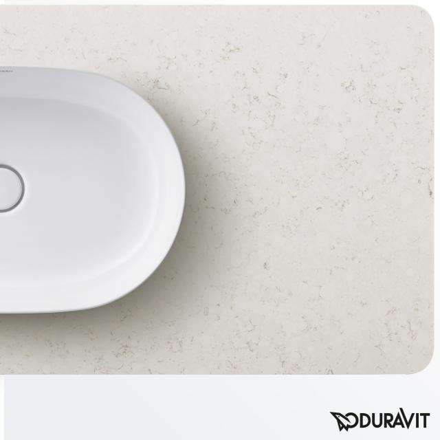 Duravit Luv Konsole für 1 Aufsatzwaschtisch mittig weiß struktur