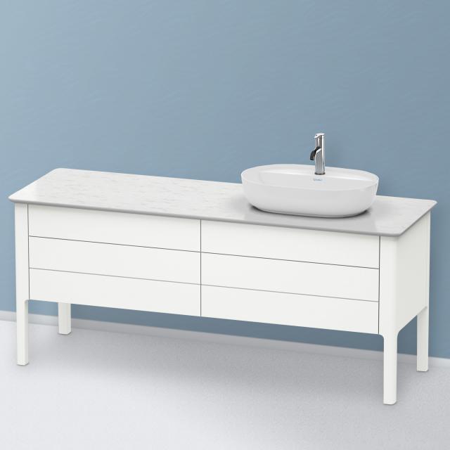 Duravit Luv Waschtischunterschrank für Konsole mit 4 Auszügen Front weiß seidenmatt / Korpus weiß seidenmatt, ohne Einrichtungssystem