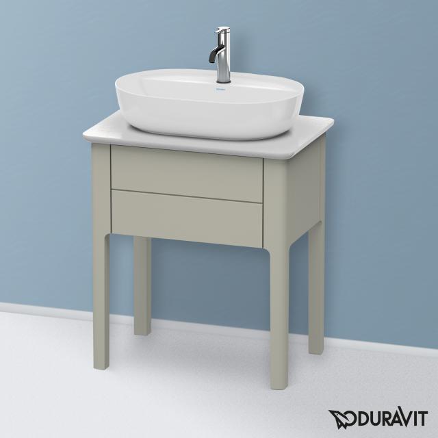 Duravit Luv Handwaschbeckenunterschrank für Konsole mit 1 Auszug Front taupe seidenmatt / Korpus taupe seidenmatt