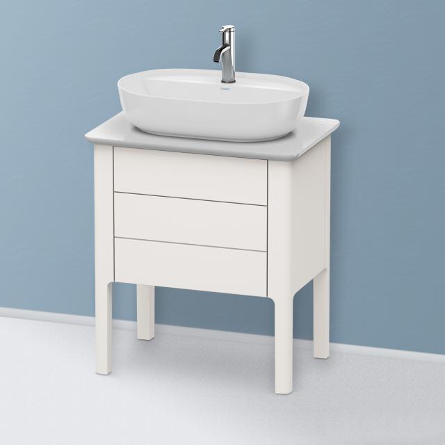 Duravit Luv Handwaschbeckenunterschrank für Konsole mit 2 Auszügen Front nordic weiß seidenmatt / Korpus nordic weiß seidenmatt