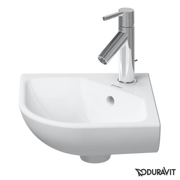 Duravit ME by Starck Eck-Handwaschbecken weiß, mit WonderGliss