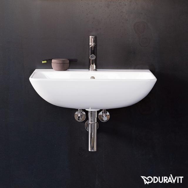 Duravit ME by Starck Handwaschbecken weiß, mit WonderGliss, mit 1 Hahnloch