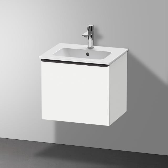 Duravit Me by Starck Handwaschbecken mit D-Neo Waschtischunterschrank mit 1 Auszug Front weiß matt / Korpus weiß matt, WT weiß, mit WonderGliss, mit 1 Hahnloch